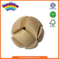 2016 Wooden Intelligence Lock Puzzle Toy and Brain Game