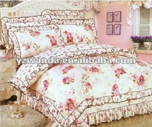 girl pink floral white duck down comforter
