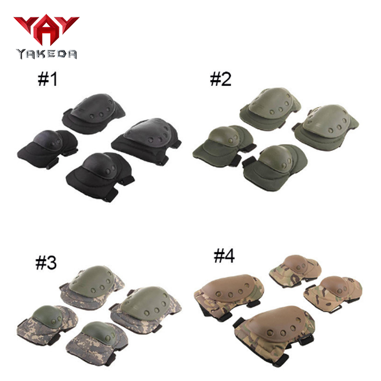 wholesale camouflage Black protector gear military tactical knee elbow pads set for army and outdoor