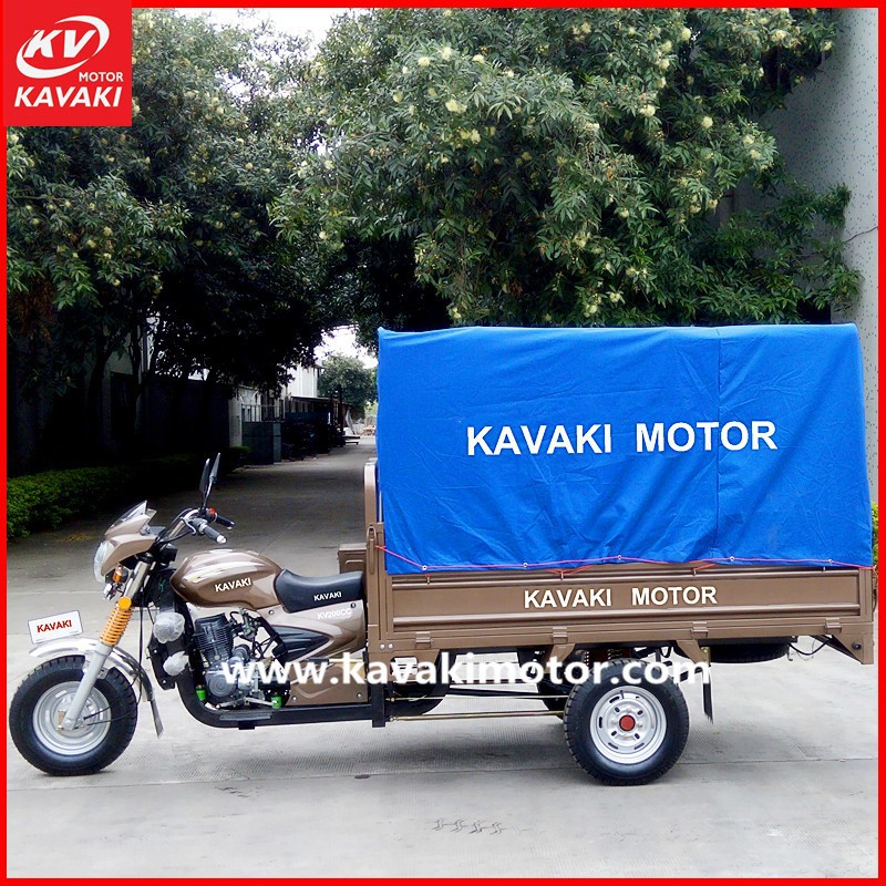Stable Performance Chinese Three wheel cargo and passenger tricycles with canvas from guangzhou to dubai market