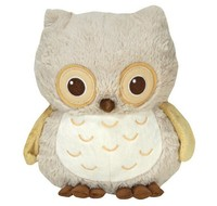 20 cm Sitting High Plush Owl Sound Toy/Stuffed Owl with Soft Sound/Sound Toy Soother Stufferd Owl with Sound Sensor Control