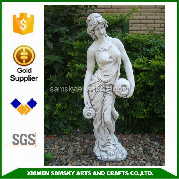 garden large lady resin woman statue