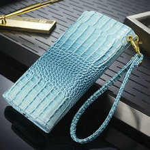 "Hot new products 2016 Croco pattern Leather Wallet Cases for APPLE IPHONE6 4.7inch 5.5"" cell phone case"