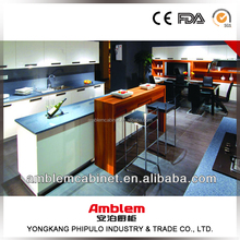 Modern white high gloss painting modular kitchen cabinet design