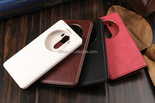 waterproof case for lg g3,Round window view leather case for lg g3 stylus cover