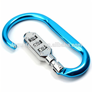 Security 3-Digits Travelling Luggage Password D-ring Combination Padlock Bag Lock Door Look