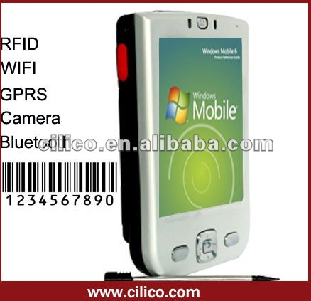 1d barocde scanner pda with mifare reader gprs and gps