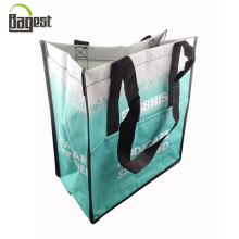 2016 Factory Price Laminated Tote Shopping Carrier PP Woven Bag