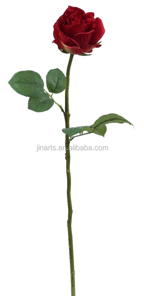 "22"" rose stem real touch artificial rose flowers"