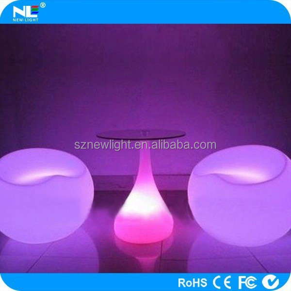 2015 fashional led sofa! waterproof led furniture remote control rechargeable /outdoor/ bra/seaside/party