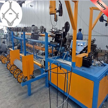 High Efficiency 380V fully-automatic chain link fence machine For steel wire weaving fence mesh