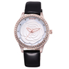NO 9305 Pink Light Leather Strap Diamond Watches for Women