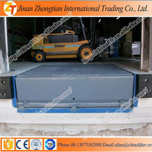 Warehouse loading unloading equipment fixed dock ramp used for forklift truck
