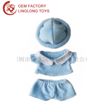 Blue Plush Suit Dress For Pet Cat Toy Clothes For The Joint Doll Doll Clothing With Hat