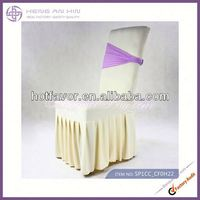 wholesale surefit slipcover Fancy Chair Cover With Skirting flat back manufacturer