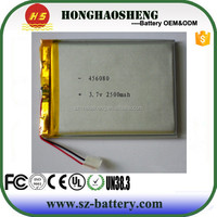 High capacity tablet pc MID replacement battery lithium polymer battery 3.7v with 2500mah 456080