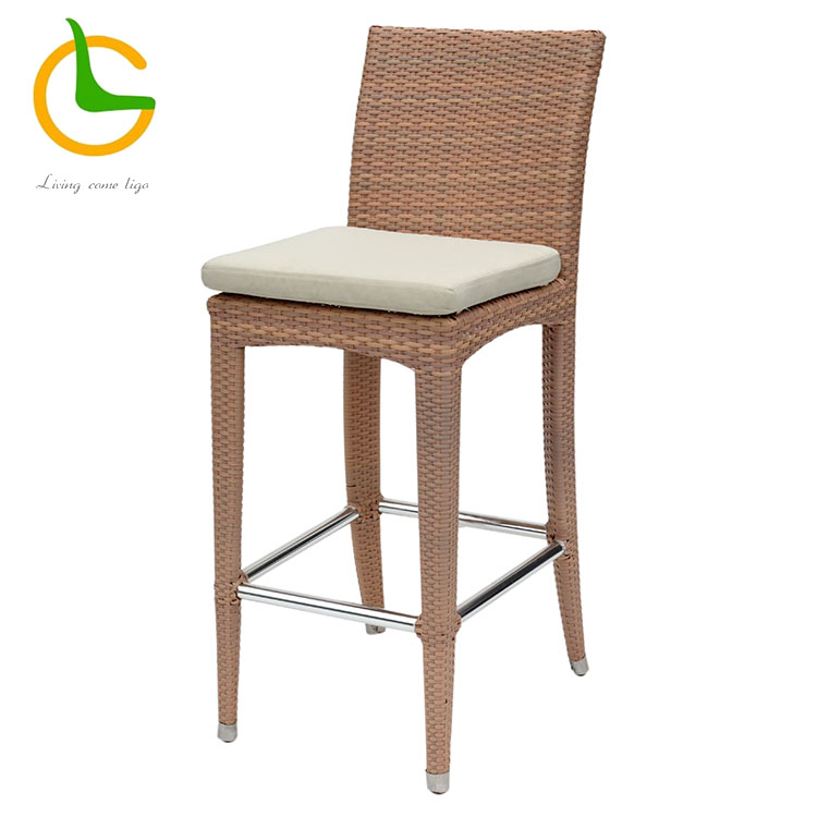 Modern and contemporary rattan wicker bar stool chair