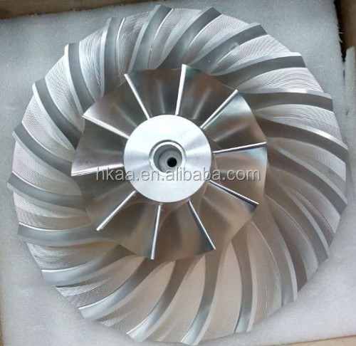 cnc machining custom titanium/stainless steel impeller by MAZAK machine imported from Japan