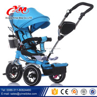 4 in 1 folding baby tricycle with sunshade / Children Tricycle with push handle / Kids 3 wheel Tricycle Distributor