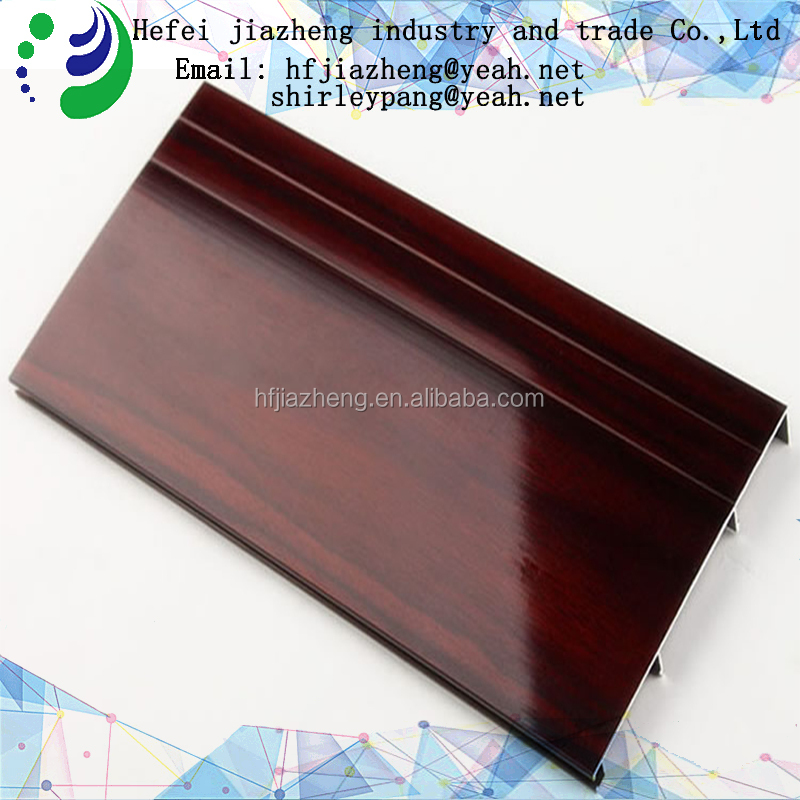 High quality Imitation solid wood aluminum alloy skirting board