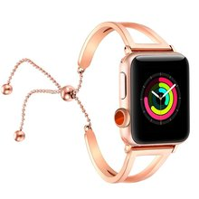 High Quality Fashionable Women Bracelet Strap For Apple Watch Band 38mm 42mm Stainless Steel Band For Apple Watch