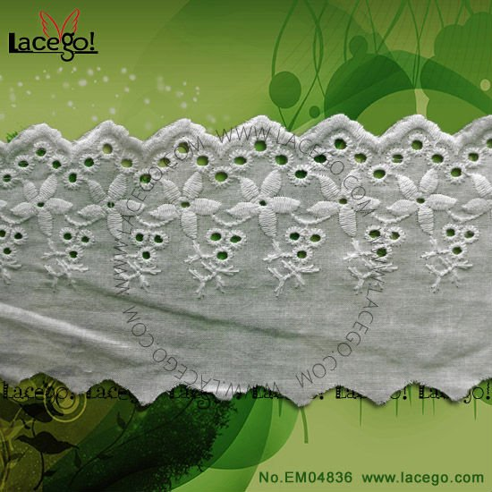 Factory Wholesale Embroidered Tulle Lace Trim