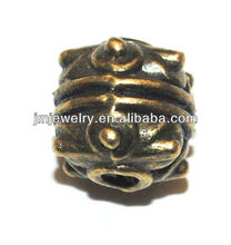 Strange shaped metal bronze jewelry accessory for beads