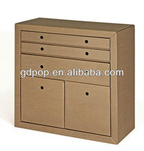 Eco-friendly A-PD156-6 corrugated cardboard furniture cupboard portable file storage cabinet
