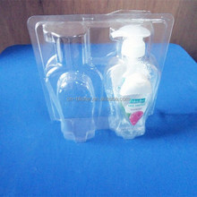 PET stand blister packing Shower gel double blister pack,stand blister packing box