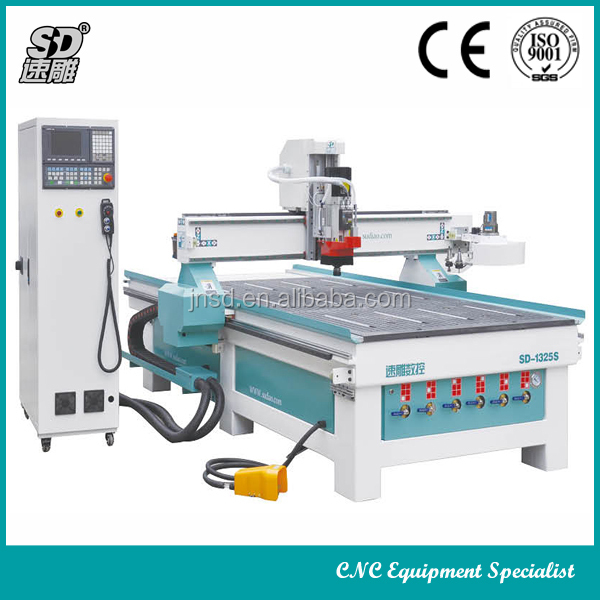 Wood Cnc Furniture Process Center/Syntec Controller Vacuum Table Cnc Router Machine