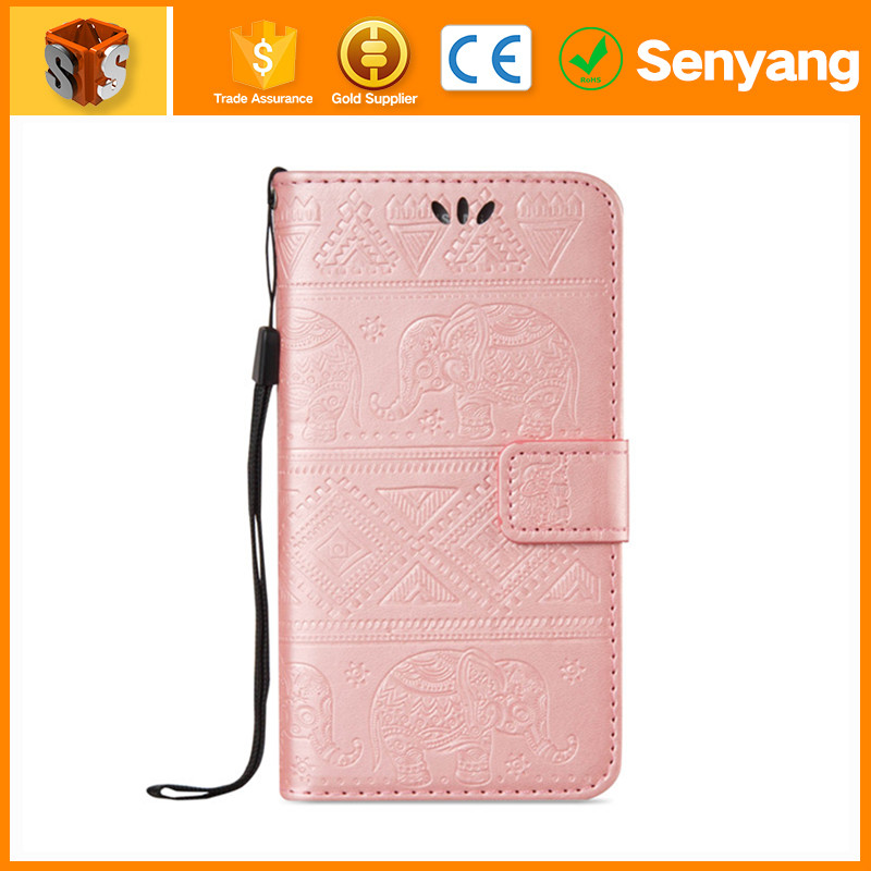 2017 trending products Leather Flip Cell Phone Case for Samsung S5