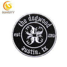 Free Sample No MOQ Custom Logo Patch the dog wood austin tx Embroidery Patch With Iron On