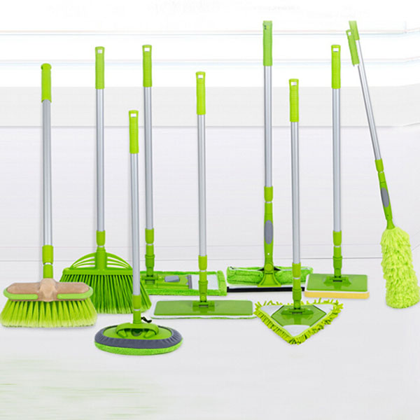 12 pcs Sweep Easy Broom Flower Shape Floor Broom Plastic Brush Broom