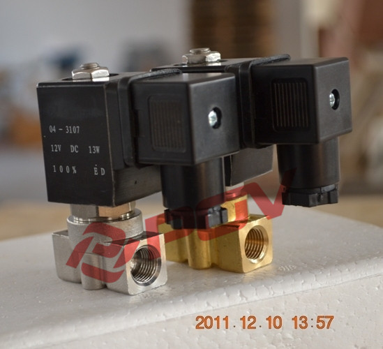 Small size 100bar <strong>gas</strong> 12v dc high pressure solenoid valve