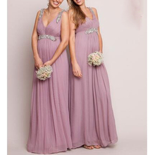 Embellished Grecian Dressy Maternity Dresses Bridesmaid Formal Dress