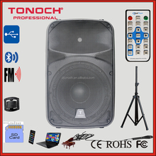 15 inch Outdoor PA active Speaker with High power Class-AB amplifier /LED Mp3 Player /bluetooth/Remote Control (THR15)