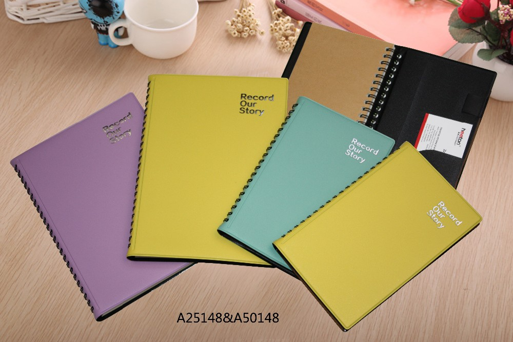 journal notebook PU leathetr spiral notebook with organizer stationery