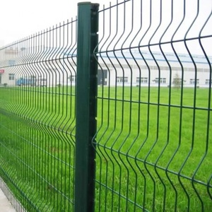 Black welded wire fence mesh panel/decorative metal fence panels/residential fence designs