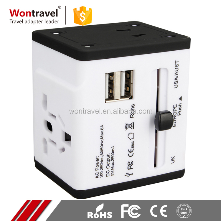 Universal Mini World Europe Wifi Power Adaptor Travel UK India Female to Male Electrical Plug Adapter