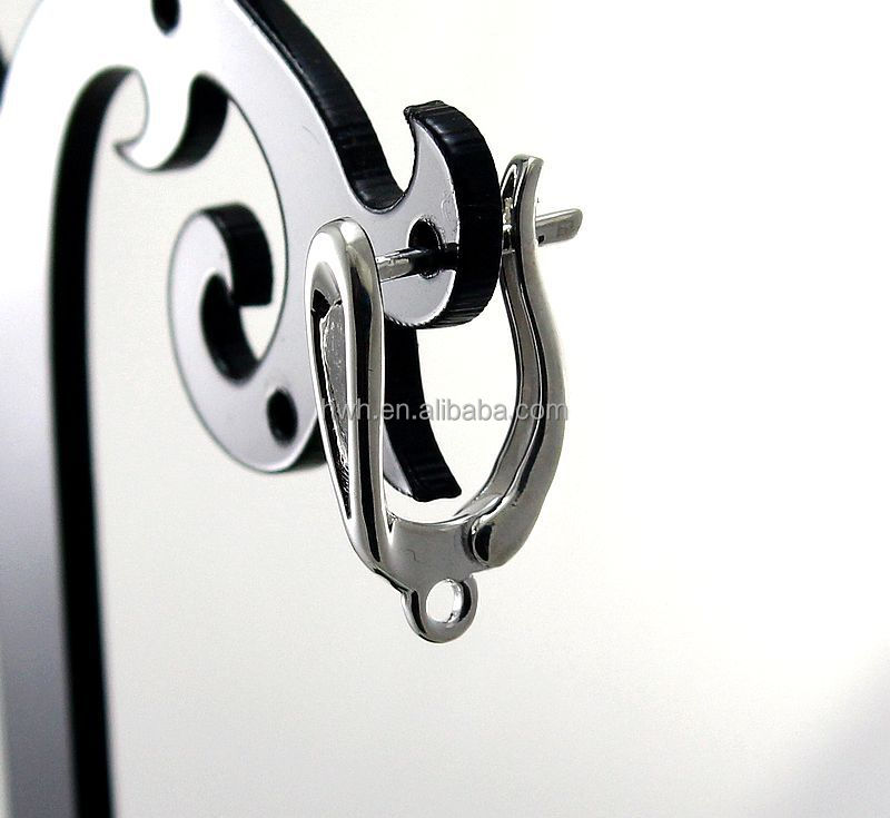 H1290 Solid Silver 925 Earring Clip / English Style Ear Hook Finding