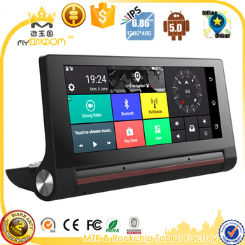 3G car dvrs 6.86 inch Car GPS Navigation Android 5.0 Navigator with rear view camera WiFi 16GB truck gps sat nav free map