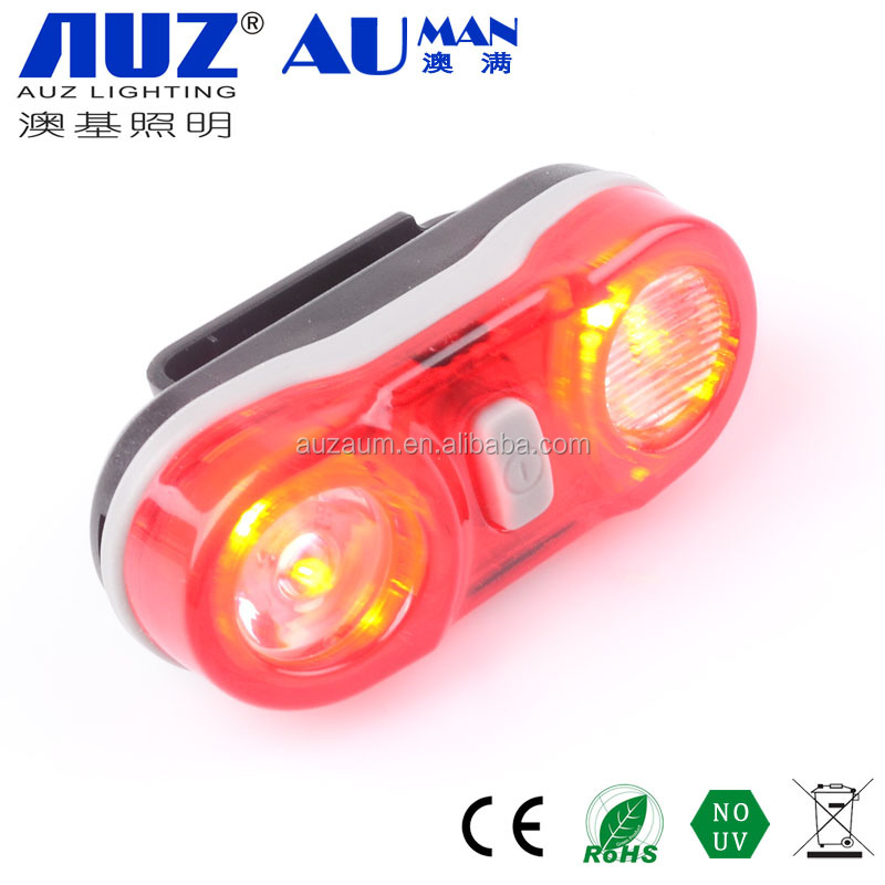 2 pcs super bright red LED flash battery powered seatpost bicycle tail light
