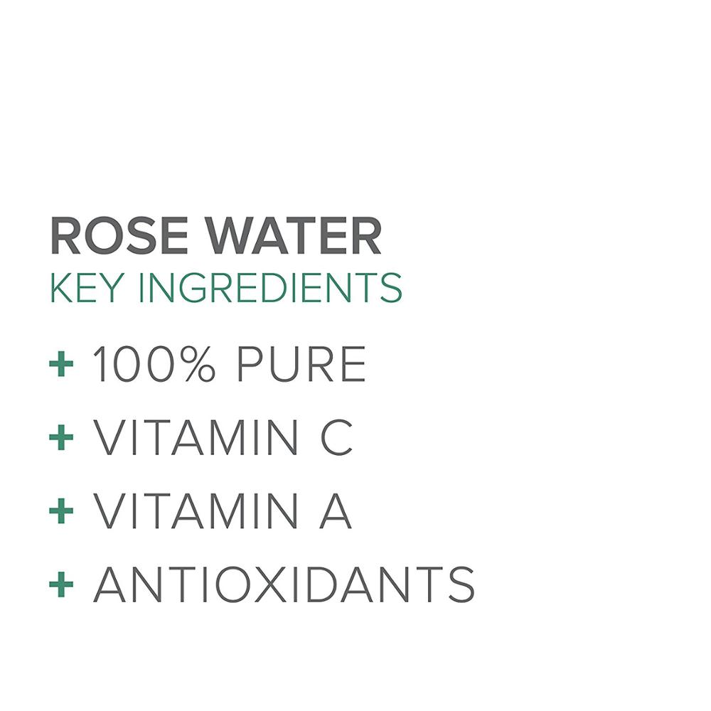 Rose Water Facial Toner Organic & Natural Astringent Face Mist without Alcohol