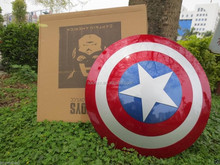 "wholesale 23"" 1:1 Scale Movie Color Captain America ABS shield For Cosplay DP001"