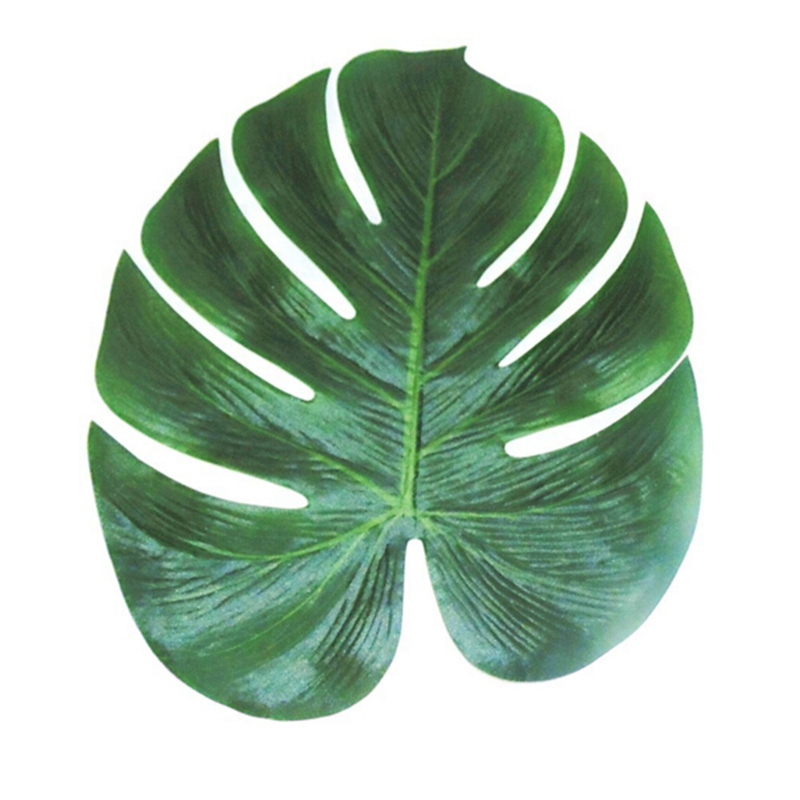 FengRise Artificial Simulation Leaf Hawaii Luau Party Decoration Hawaiian Tropical Palm Leaves