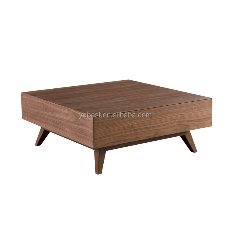 solid wood base center coffee table
