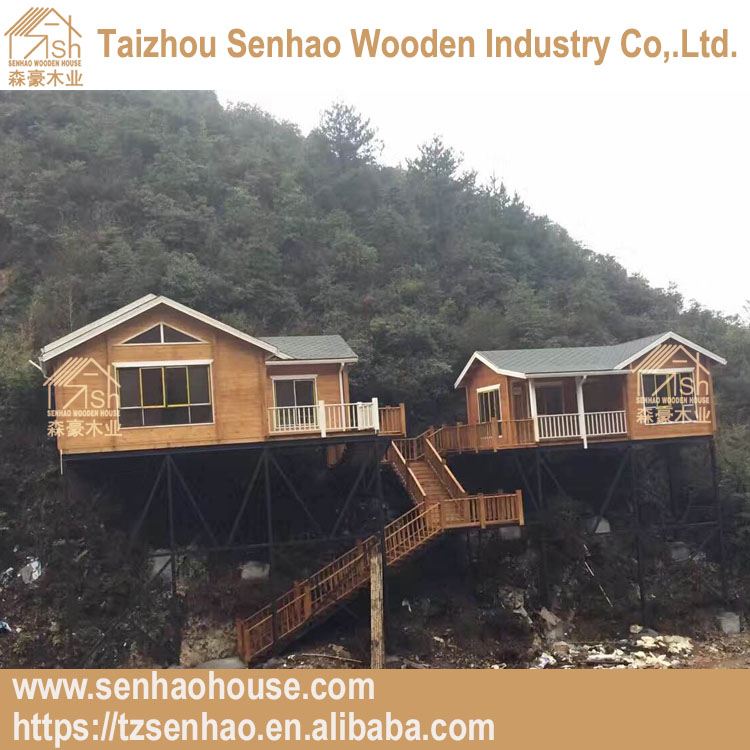 garden villa huts taizhou linhai customized wooden house in the air for living