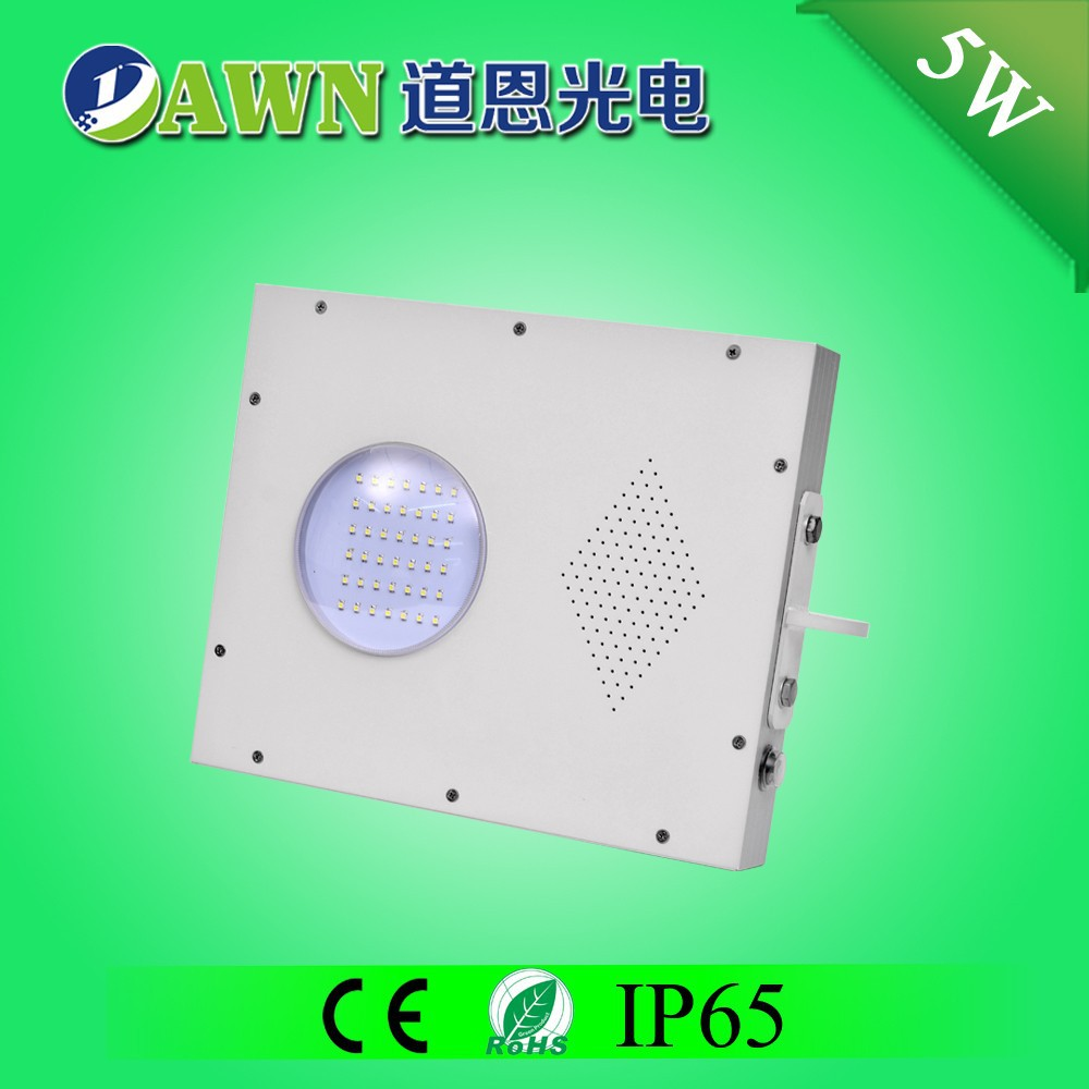 5W Sunpower high quality all in one integrated garden light pole stainless solar power bug zapper sodium light