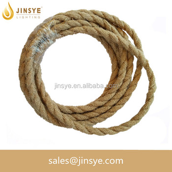 VDE/UL Hemp rope lightning cable for pendant light