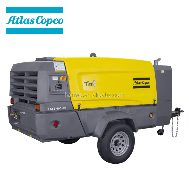 Atlas Copco XATS400JD John Deer diesel engine 400 CFM@200PSIG portable compressor